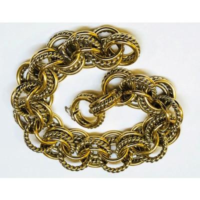 Bracciale usato oro giallo/bianco 18 Kt. Gr.53,40 lunghezza cm.20 anni 50/70
