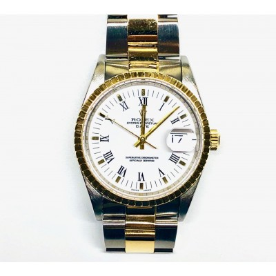 Orologio Rolex Oyster Perpetual Date acciaio oro