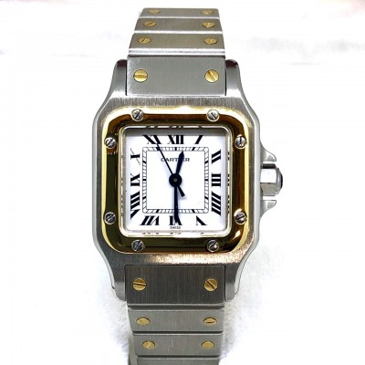 Orologio  usato Cartier Santos Galbée