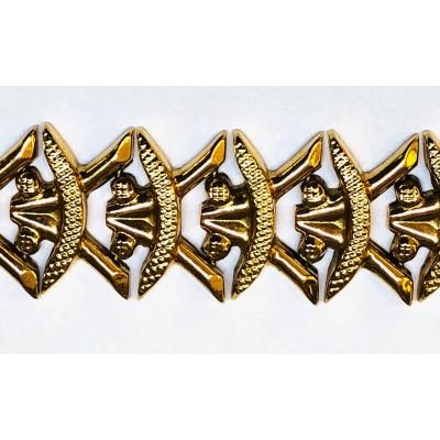 Bracciale usato, oro giallo,18 Kt. Gr.19,00 anni 50/60  Lunghezza cm. 19