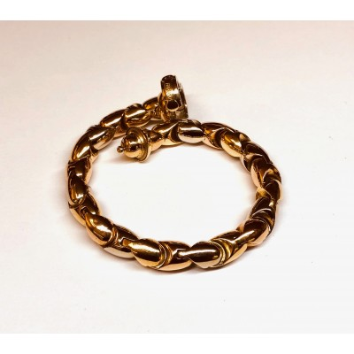 Bracciale usato oro bianco/rosa/giallo BARAKA' 18Kt.  Gr. 40,69 Lunghezza cm 21,00 anni 60/70