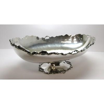 Jatte in argento 800, anni '30/'40, lavorazione traforata, usata