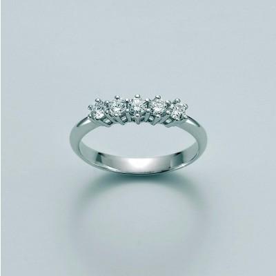 Veretta Miluna in oro 18 kt con Diamanti  N 5 Pt tot 3,75