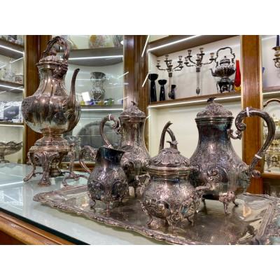 Servizio Samovar 5 pezzi argento 800 bollo 584mi