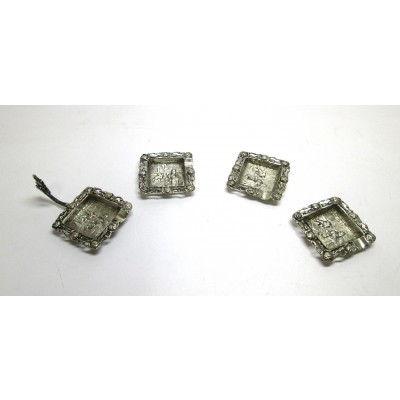 Set posacenere in argento 800 Alessandria d'Egitto d'epoca