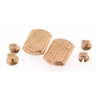 Bottoni D'epoca in oro rosa 9 kt  anni 60 usati