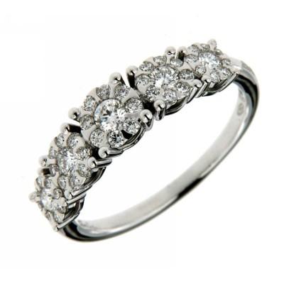 Veretta Salvini Collezione Daphne oro bianco 18 kt e diamanti ct 0,051