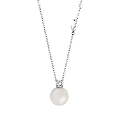 Collana DAPHNE PERLA di Salvini, oro bianco 18 Kt con perla e diamanti