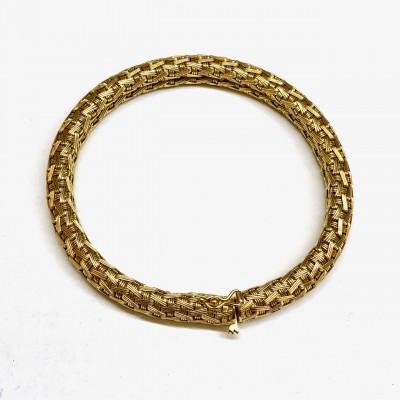 Bracciale usato, oro giallo,18 Kt. Gr.40,34 anni 60/70 Bollo- 20VA- Lunghezza cm. 19