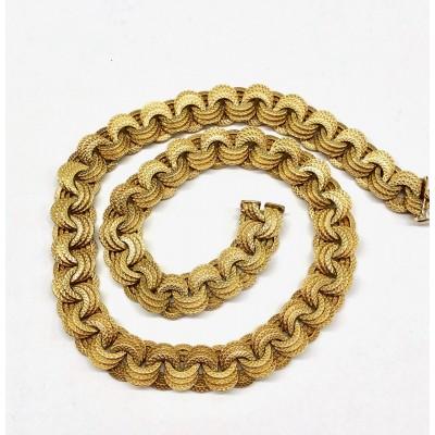 Collana oro giallo anni 30 bollo fascio Gr.56,39 usata