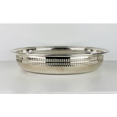 Centro tavola in argento 800 traforato lateralmente