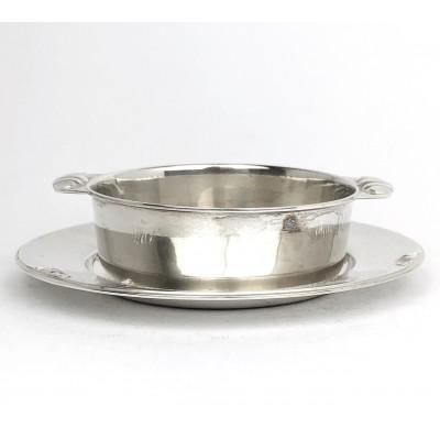 Ciotola con piattino argento 800, usata