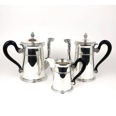 N. 3 pezzi Latte Caffè The stile impero in argento 800. Usato
