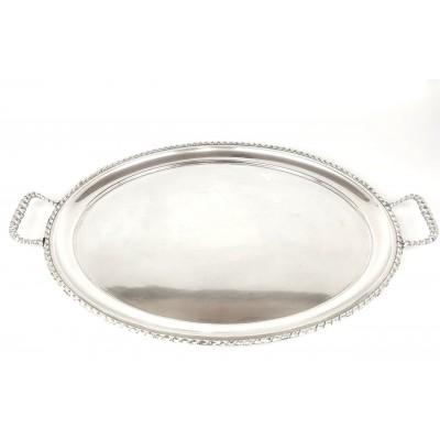 Vassoi in argento 800 ovale con manici anni60