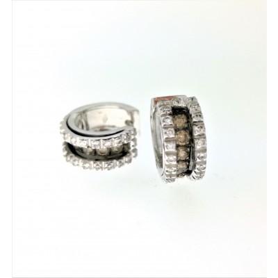 Orecchini in oro bianco 18 Kt e diamanti 0,78 ct