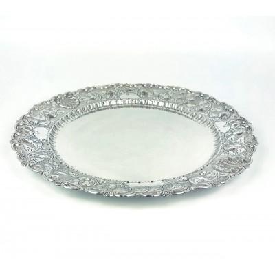 Piatto cesellato in argento 800 usato