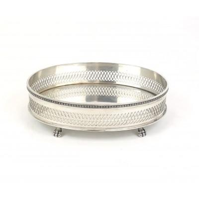 Vassoio ovale in argento 800 bollo 30PD
