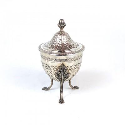 Zuccheriera arg.'800 Moderna copia rifatta in stile antico bollo usata