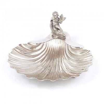 Posacenere in argento a conchiglia in arg.'800