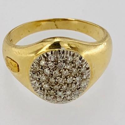 Anello da mignolo in oro giallo 18kt. usato
