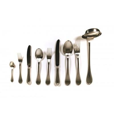 Servizio posate in argento 800 stile inglese Stancampiano