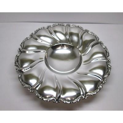 Piatto/centrotavola in argento, d'epoca, anni '50/'60