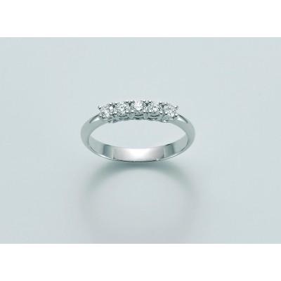 Veretta Miluna in oro 18 kt con Diamanti N 5 Diamanti naturali Pt tot 25