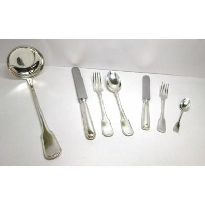 Servizio posate da tavola in argento 800 modello Mauriziano D'epoca