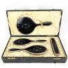 Set toilette in argento 925 e Tartaruga con scatola originale J.W Benson.LTD J.Udgate Hill London e.c.