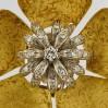 Spilla in oro 750 a fiore con diamanti con petali mobili