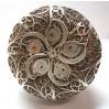 Scatola in argento 925 a lavorazione filigrana indiana d'epoca usata