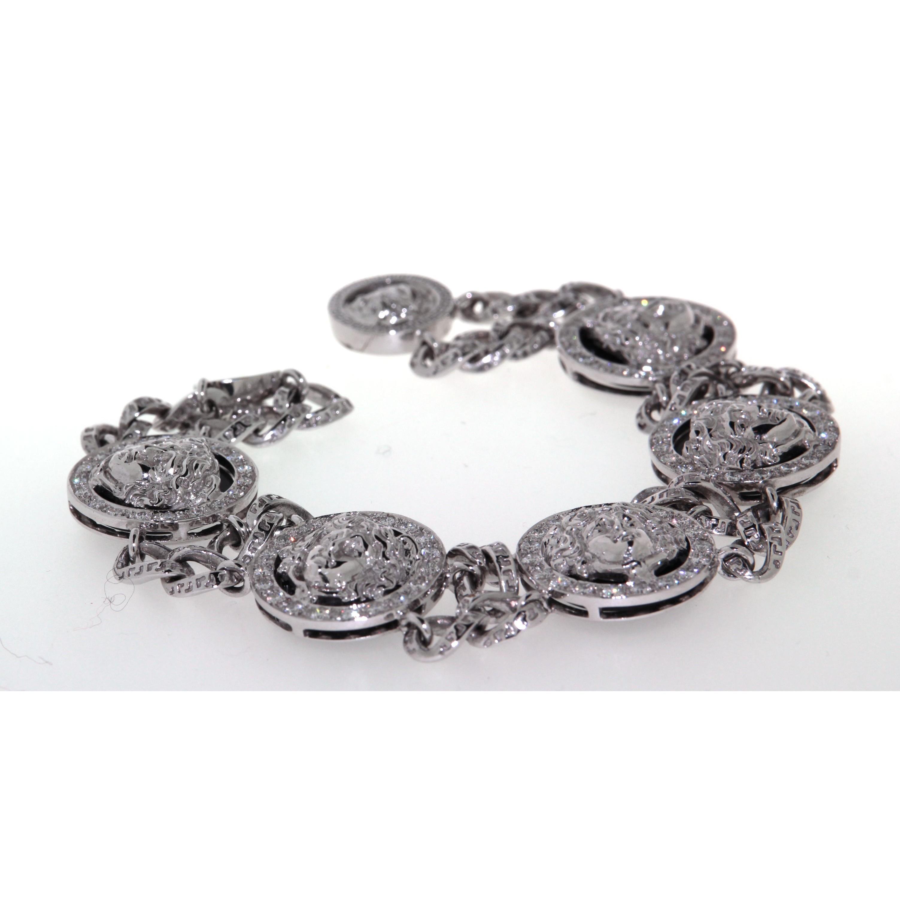Diamond Versace Bracelet Gold Versace White vmn8w0ON