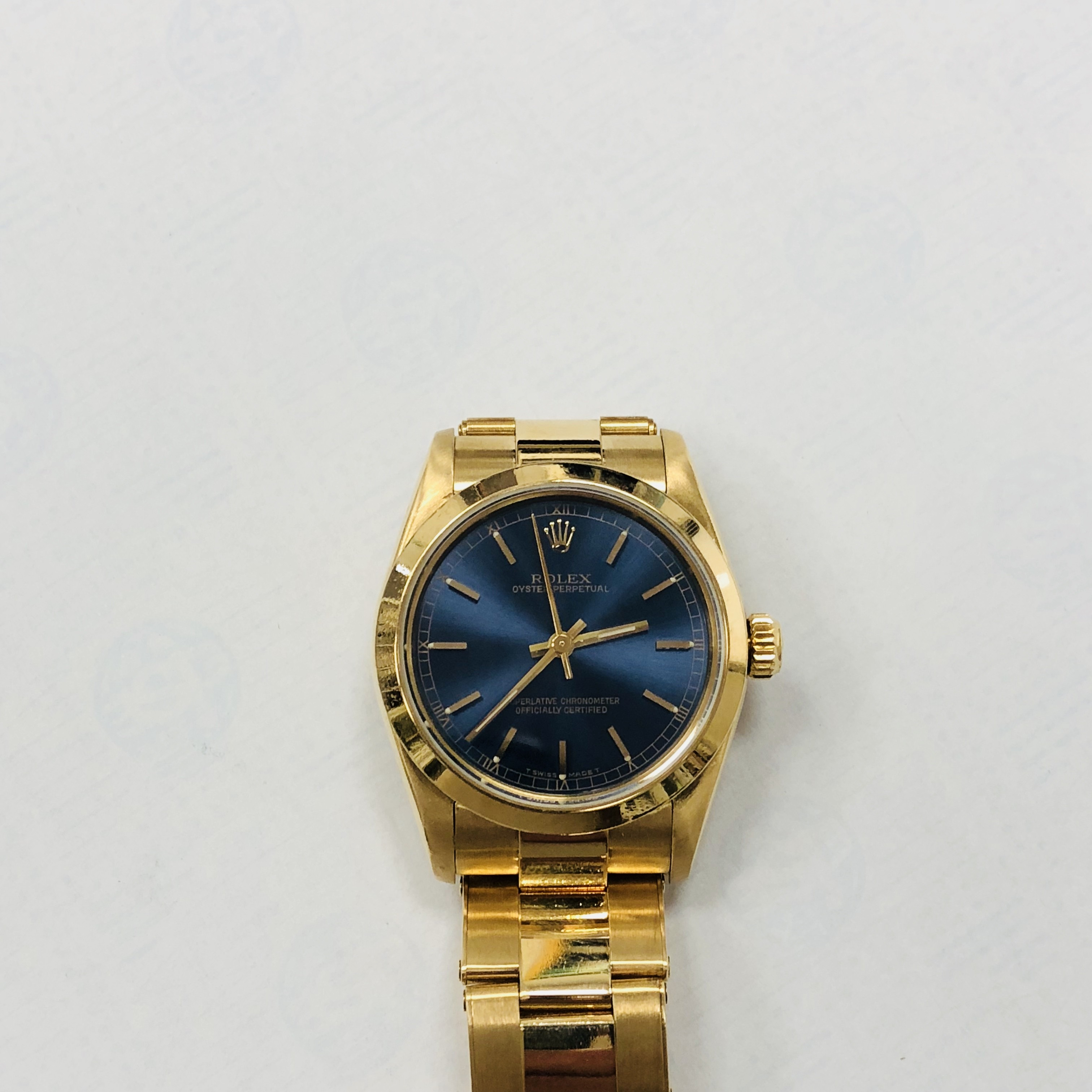comprare on line e10e3 1ebb9 Rolex woman gold model Oyster Perpetual medium year 96 68278 used