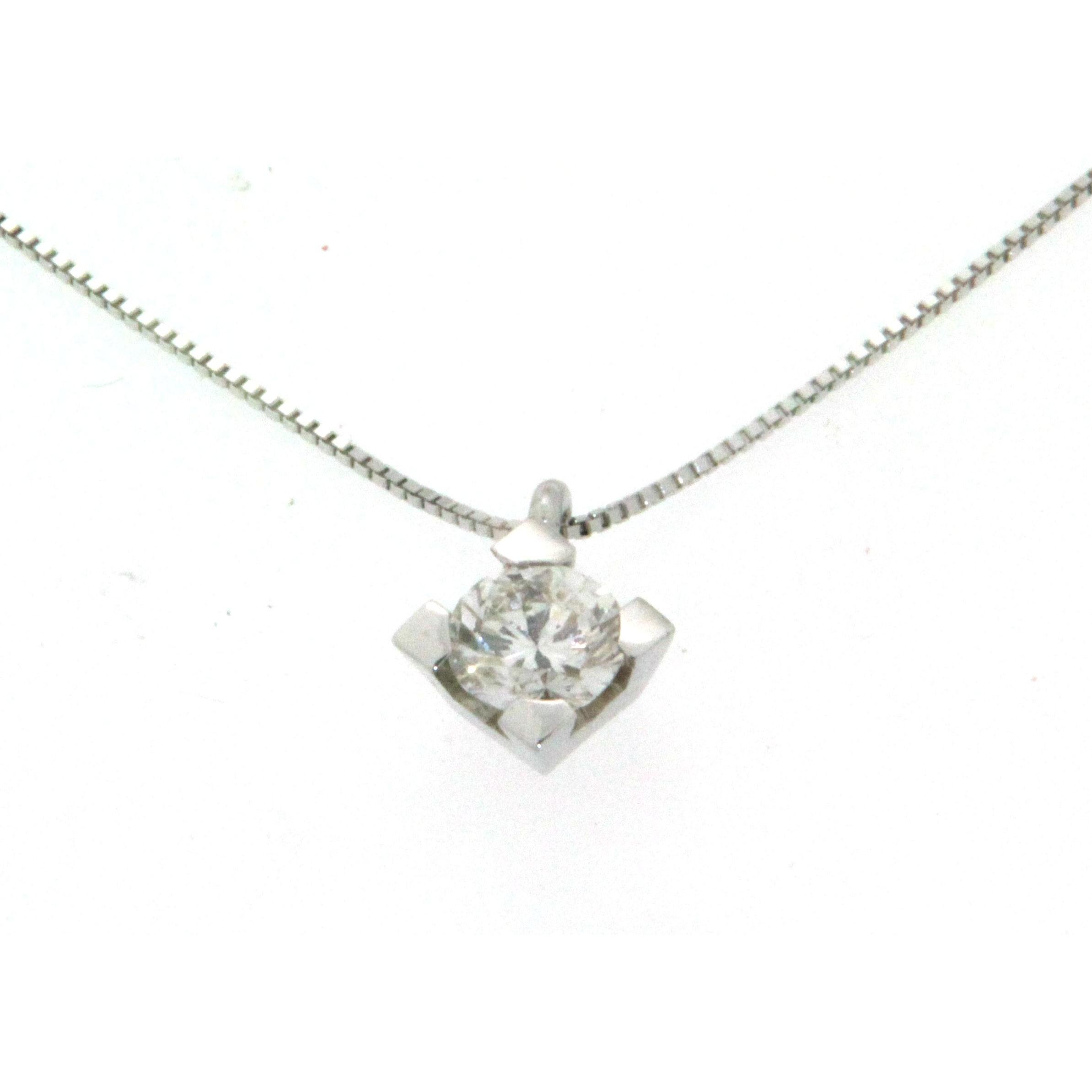 offres exclusives magasins d'usine 100% qualité garantie Collier chaîne en or blanc 18k, avec pendentif diamant de 0,41ct